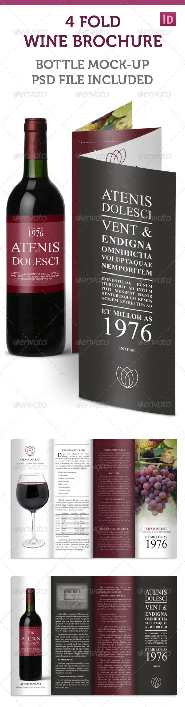 Wine Brochure Template Free Willamette Valley Glass Various High Professional