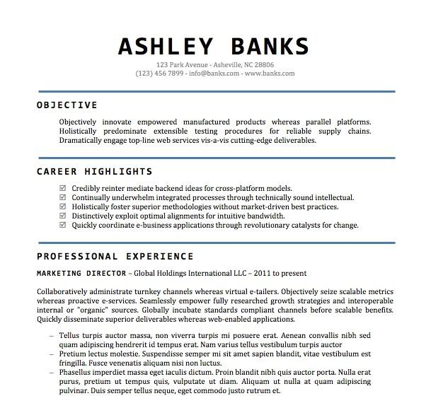 resume templates word doc