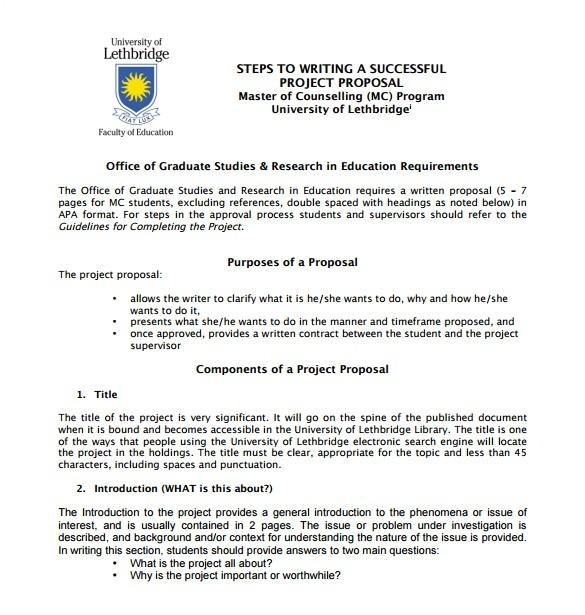 writing proposal template sample