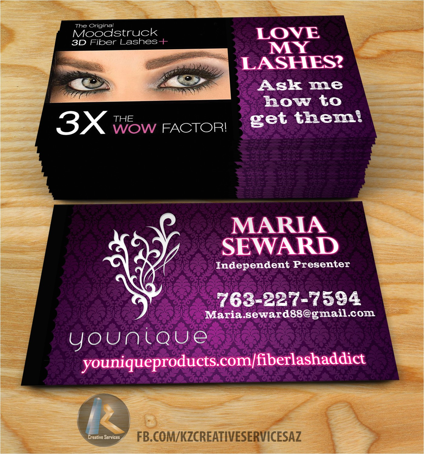 business cards younique
