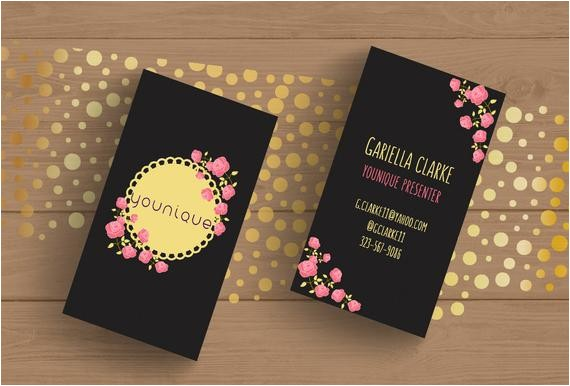 younique consultant business card template layered