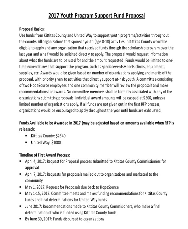 Youth Program Proposal Template 9 Program Proposal Templates Free Sample Example format
