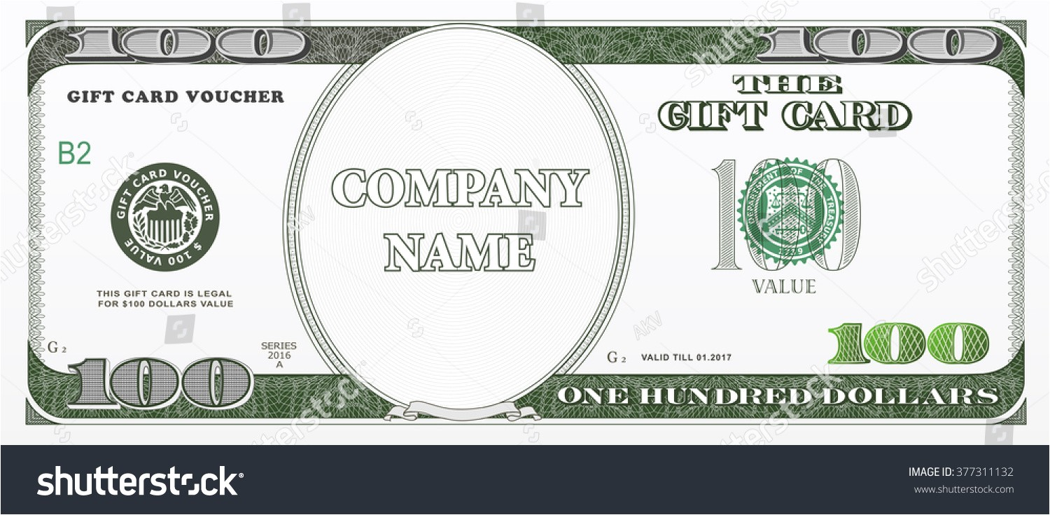 100 Gift Certificate Template 100 Dollar Bill Template Www Imgkid Com the Image Kid