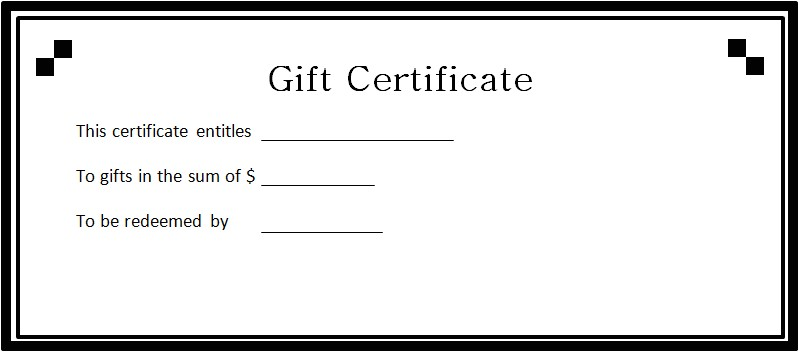 gift certificates 100