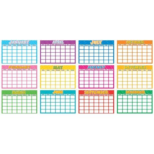 blank 18 month calendar