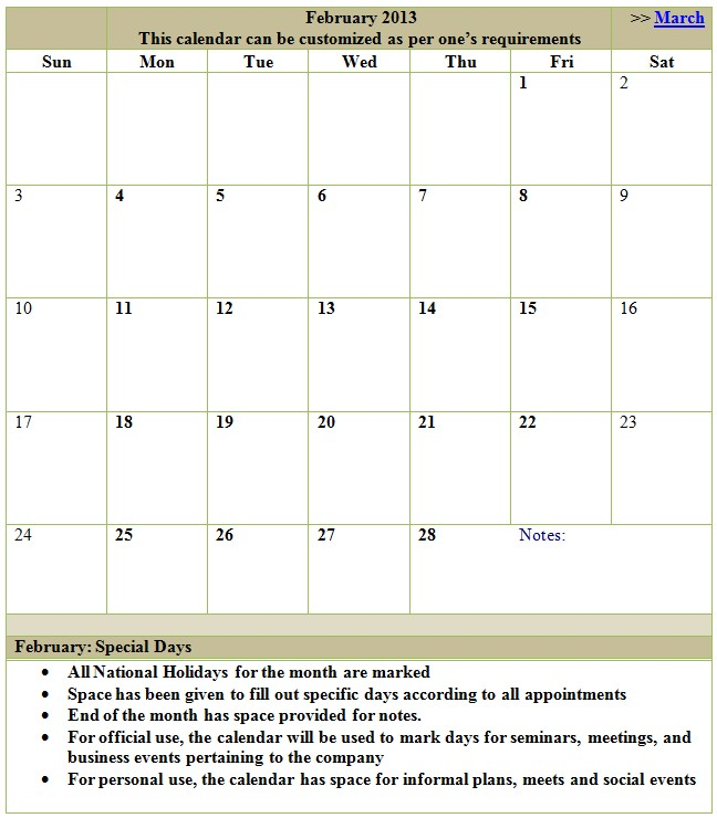 18 Month Calendar Template Search Results for Free 2013 Printable Calendar Template