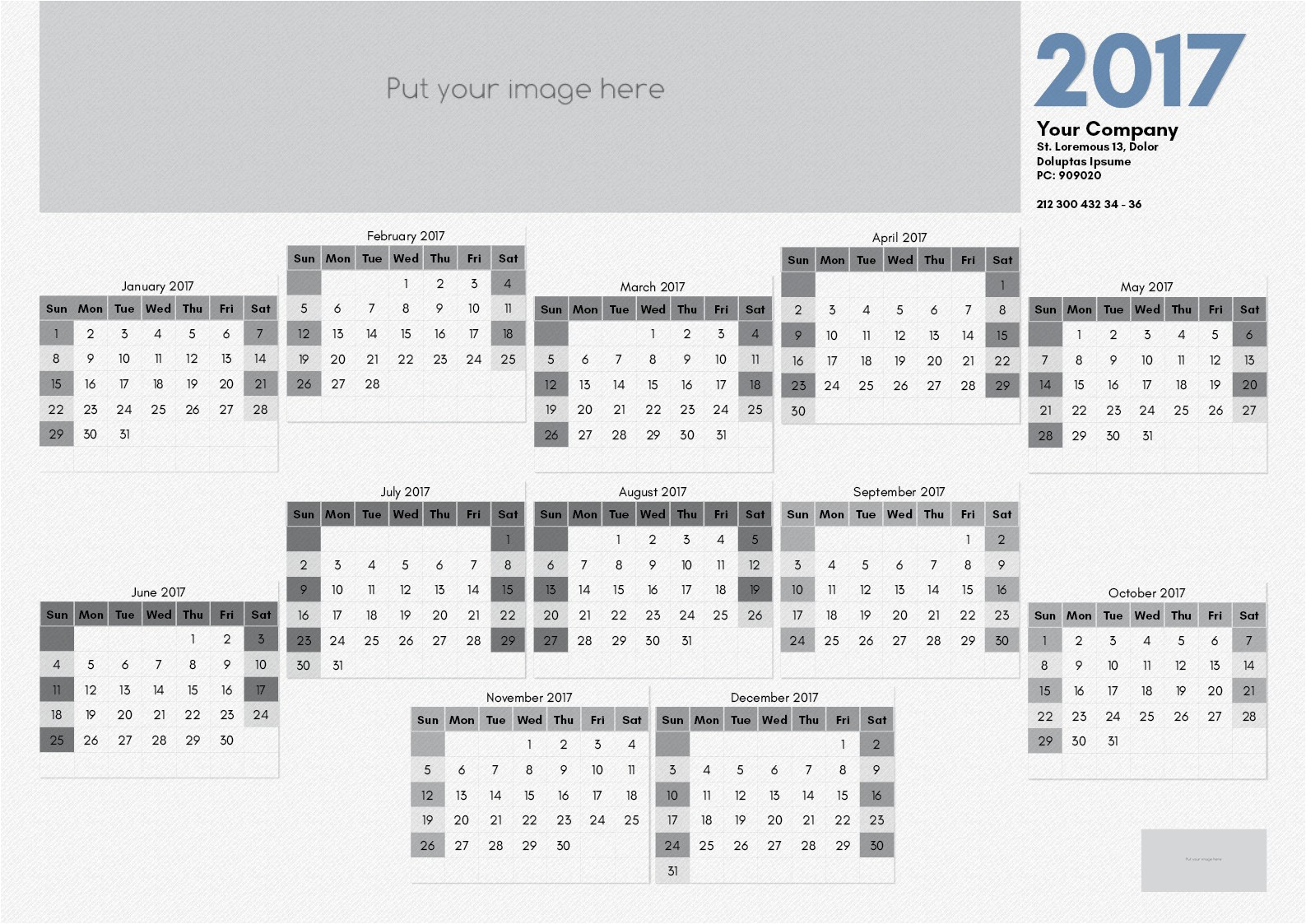 december 2017 calendar template indesign