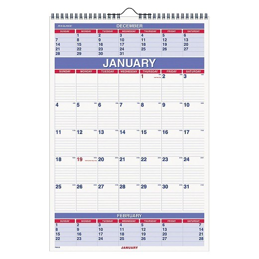 3 Month at A Glance Calendar Template at A Glance Three Month Wall Calendar 15 1 2 X 22 3 4