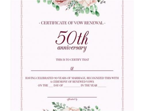 how to organize 50th wedding anniversary vow renewal ceremony
