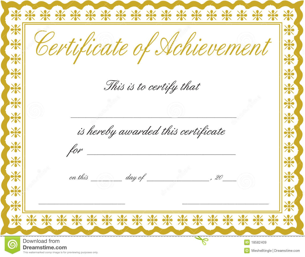royalty free stock images certificate achievement image18582409