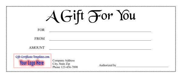 gift certificate template 1