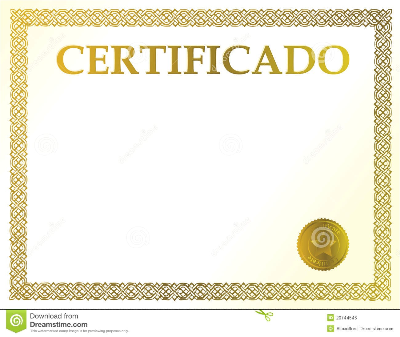 8.5 X 11 Certificate Template Spanish Blank Certificate Royalty Free Stock Image Image