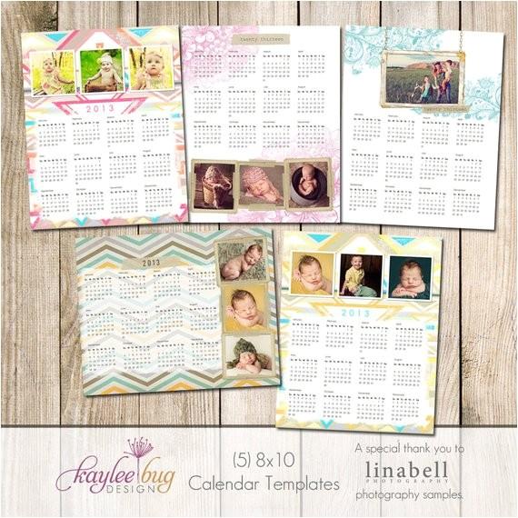 8×10 Calendar Template 8×10 2013 Calendar Templates Set Of 5 Pro One