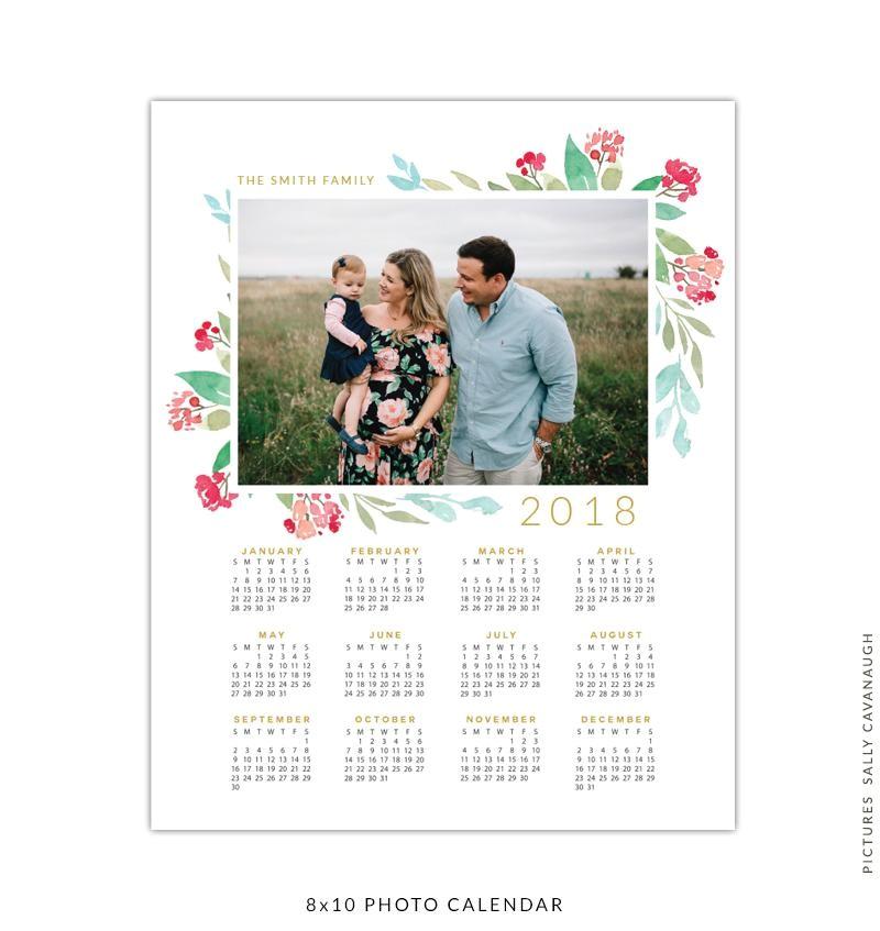 8x10 2018 calendar template free souls