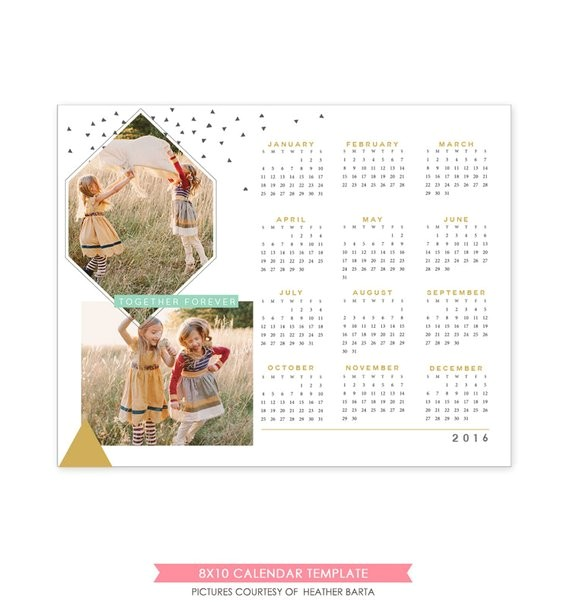 instant download 8x10 calendar template