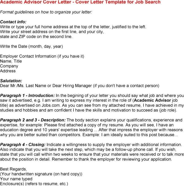 Academic Advisor Cover Letter Templates Academic Advising Cover Letter Cover Letter