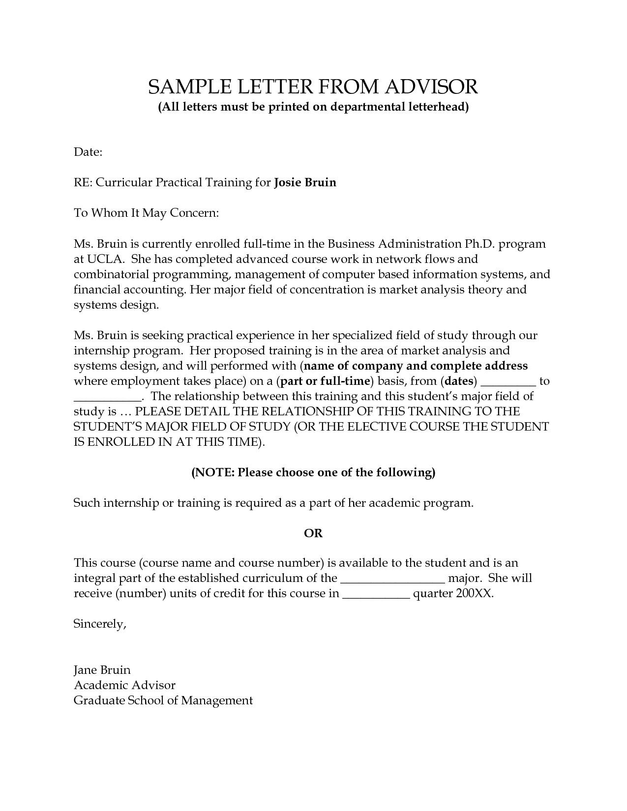 Academic Advisor Cover Letter Templates Academic Cover Letter Sample Template
