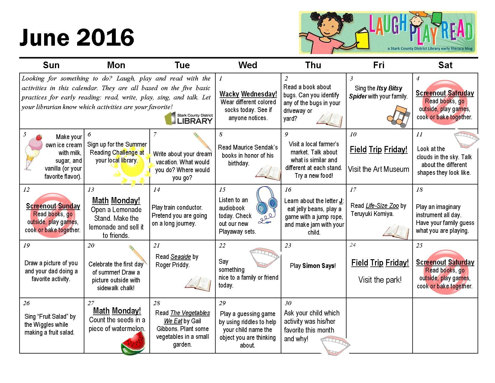 activity calendar template for seniors