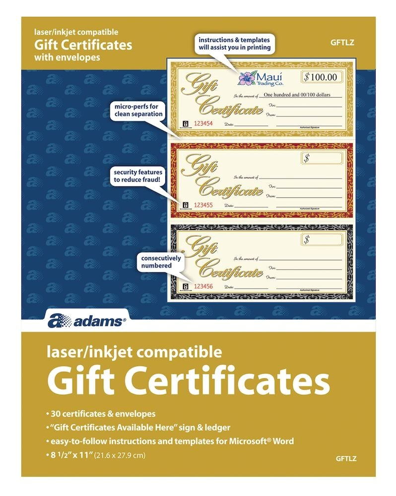 gift certificate laser 3 up