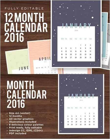 2599268 creativemarket 2016 calendar template