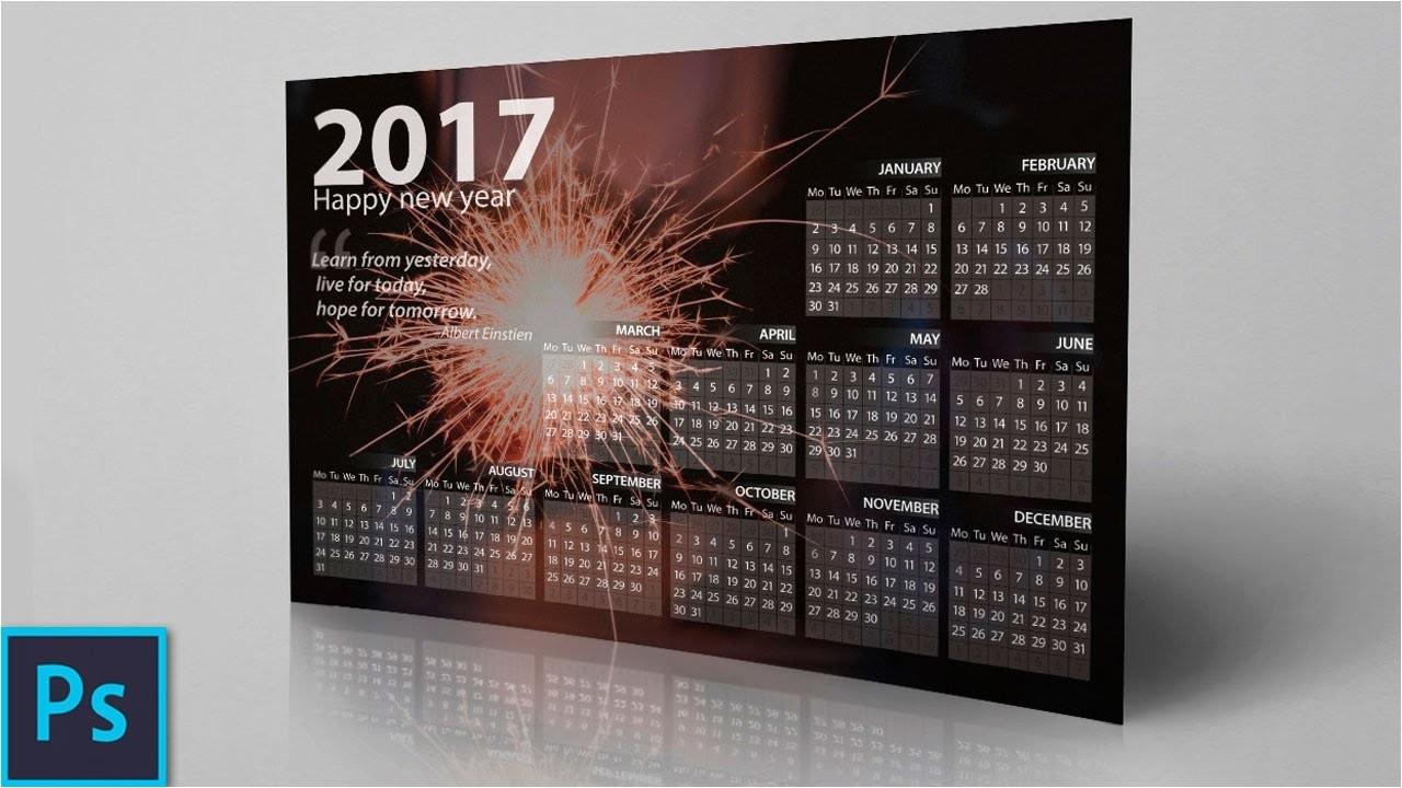 Adobe Photoshop Calendar Template How to Create A Professional Calendar In Photoshop Youtube