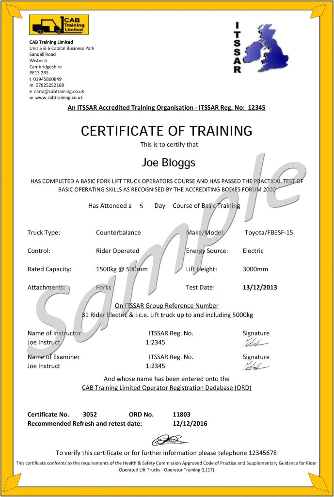 Aerial Lift Certification Card Template Aerial Lift Certification Card Template Blogihrvati Com