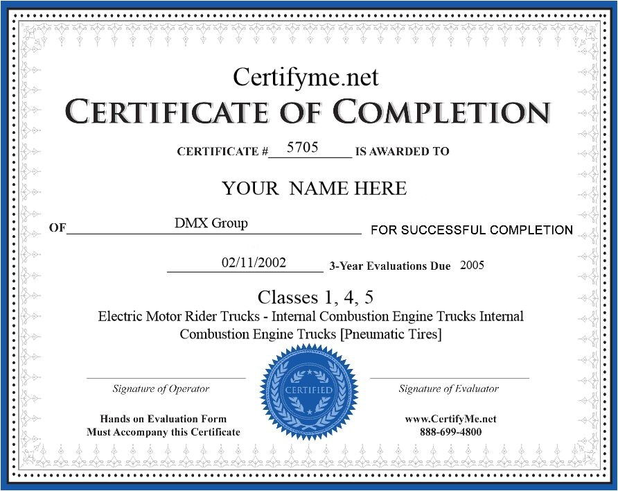 Aerial Lift Certification Card Template forklift License forklift Certificate Get Trained today