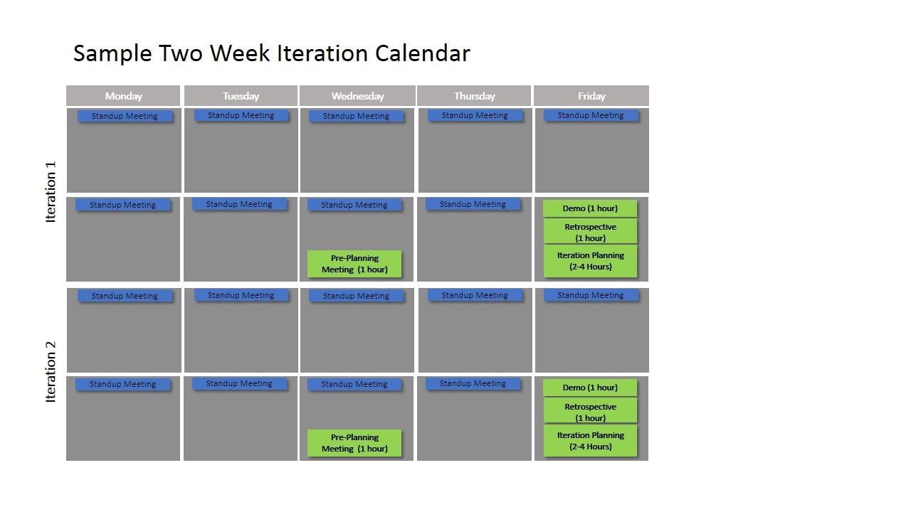 scrum schedule template