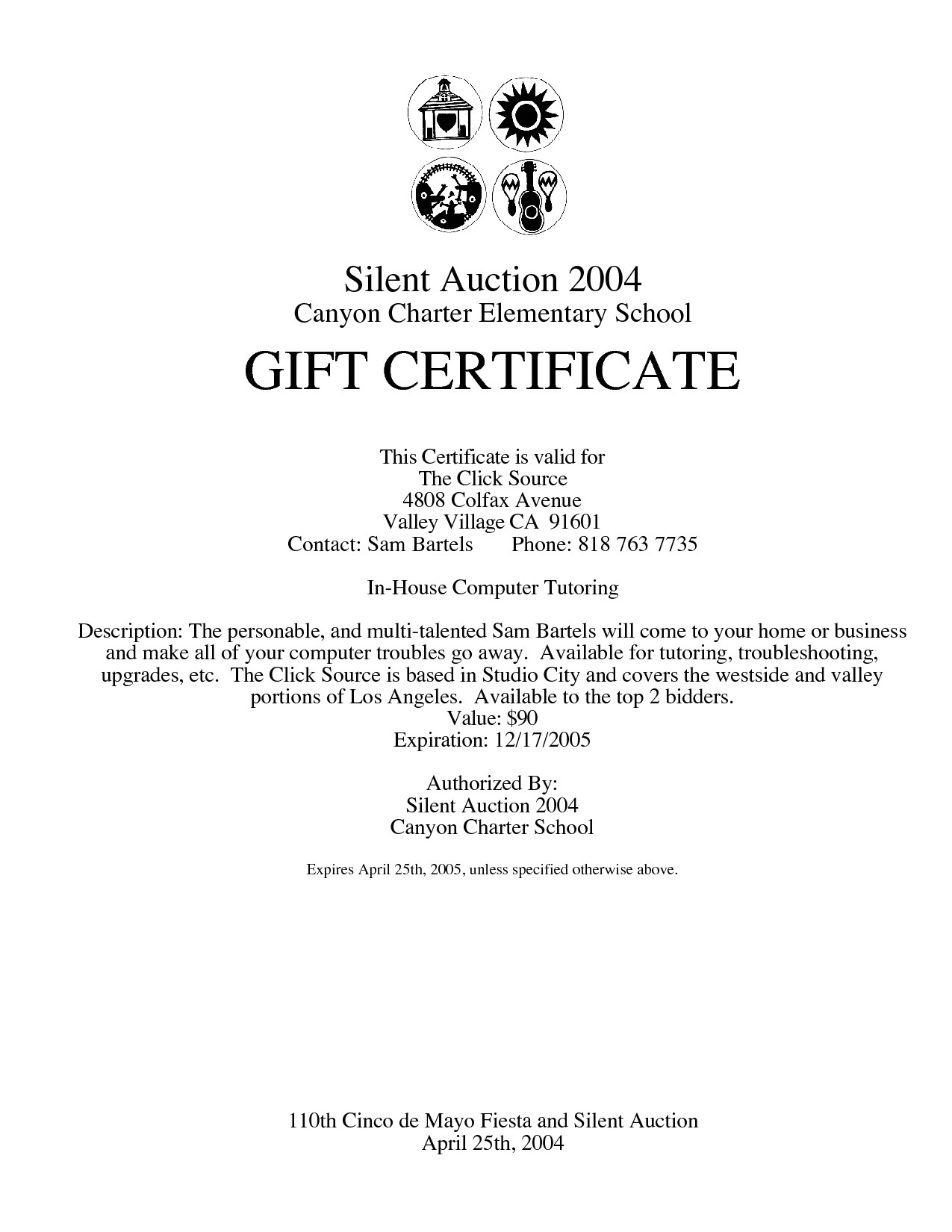 post auction gift certificate template 240777