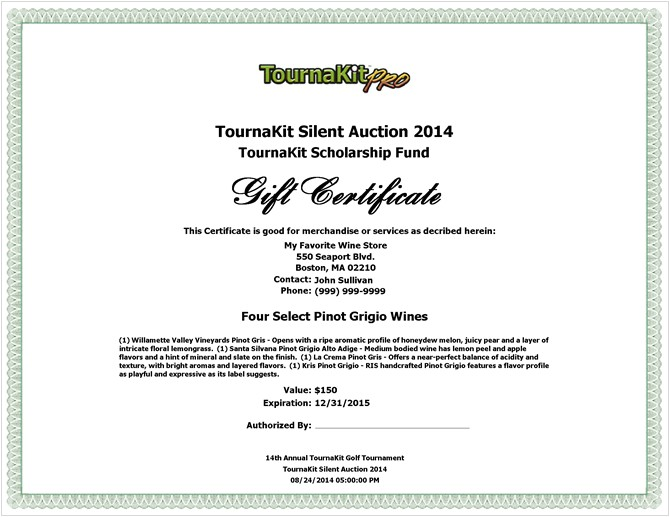 Auction Certificate Templates Free Charity Voucher Templates Company Documents