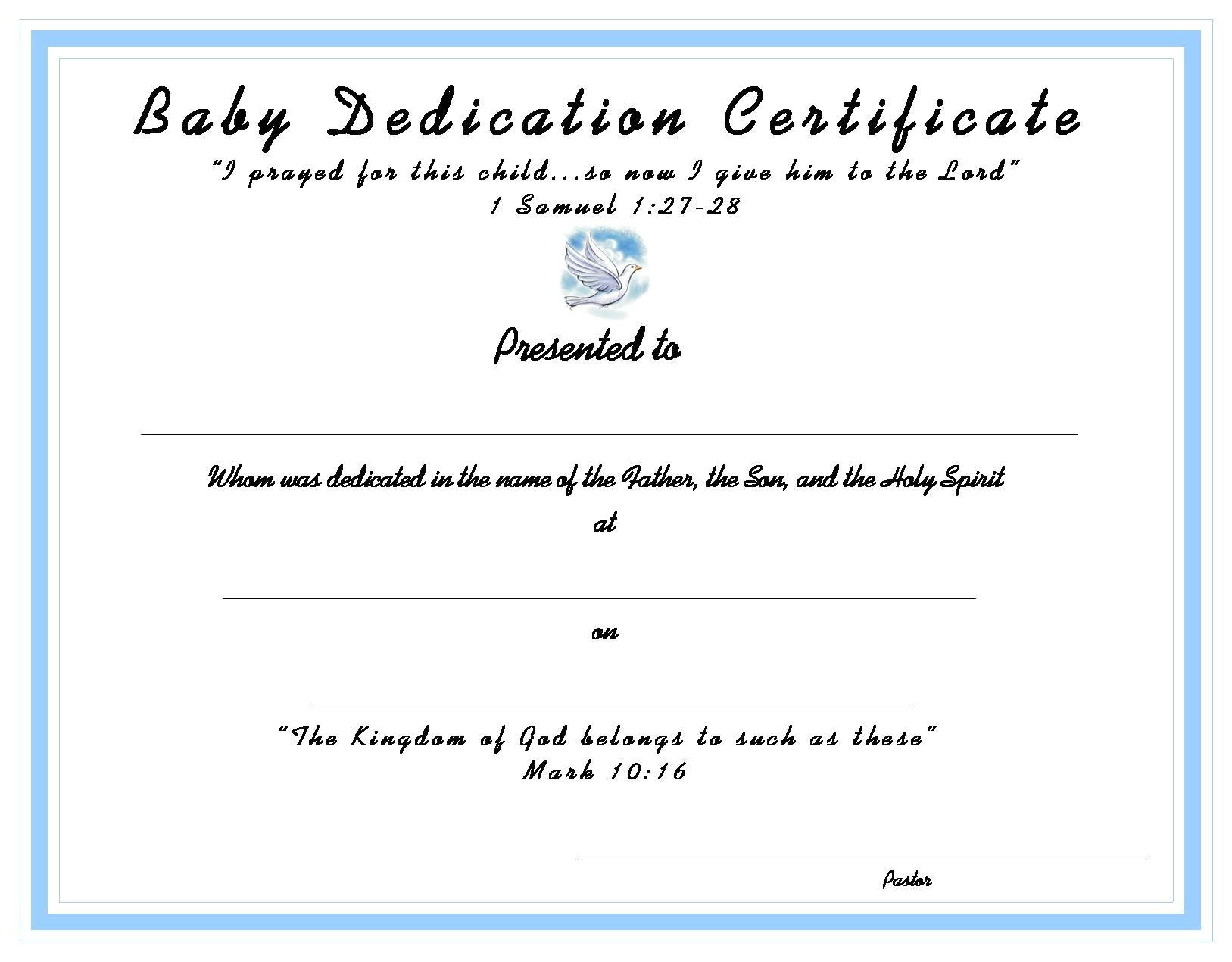 Baby Blessing Certificate Template Www Certificatetemplate org Baby Dedication Certificate