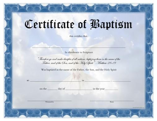 baptism certificate comment 47884