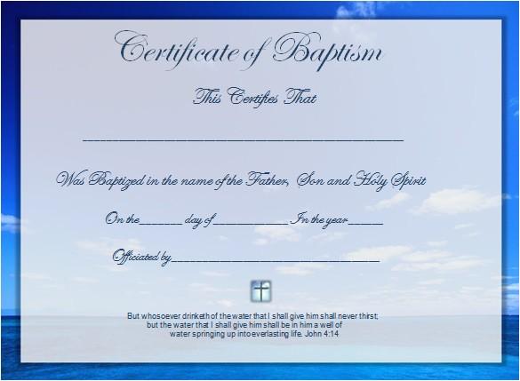 Baptismal Certificate Template Word Certificate Template 49 Free Download Samples