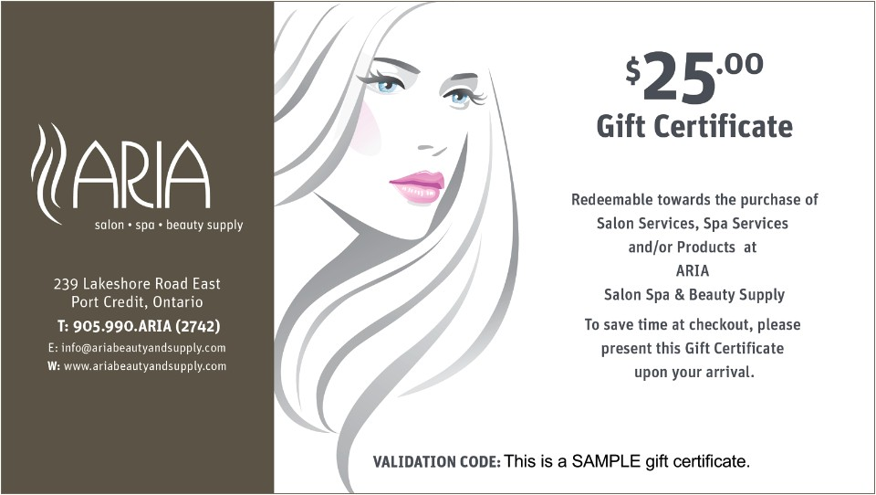 Beauty Salon Gift Certificate Template Free Hair Stylist Gift Certificates Professional and High