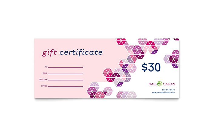nail salon gift certificate templates gb0582601d
