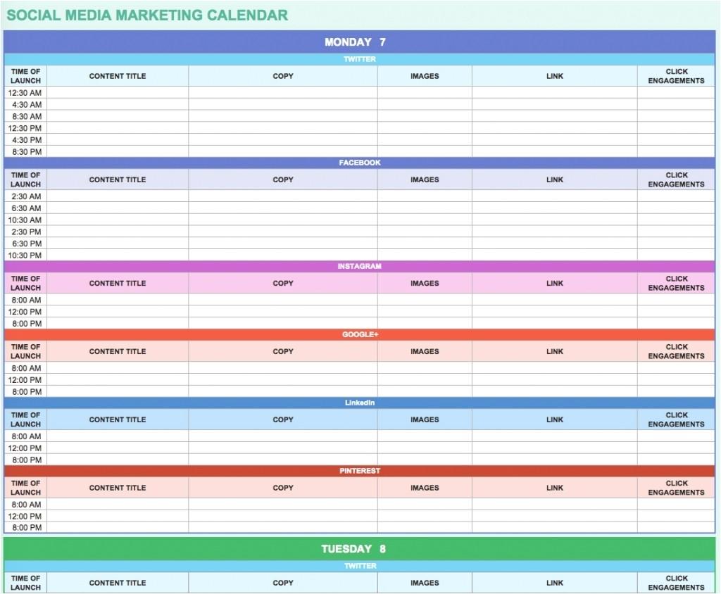 9 free marketing calendar templates for excel smartsheet throughout marketing plan calendar template 2