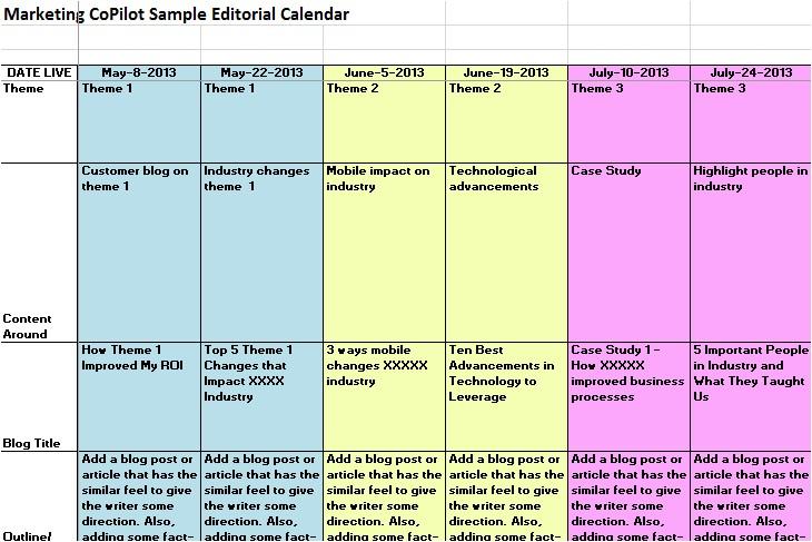 Best Editorial Calendar Template Content Marketing Editorial Calendar Template