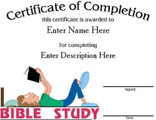 bible award certificate template