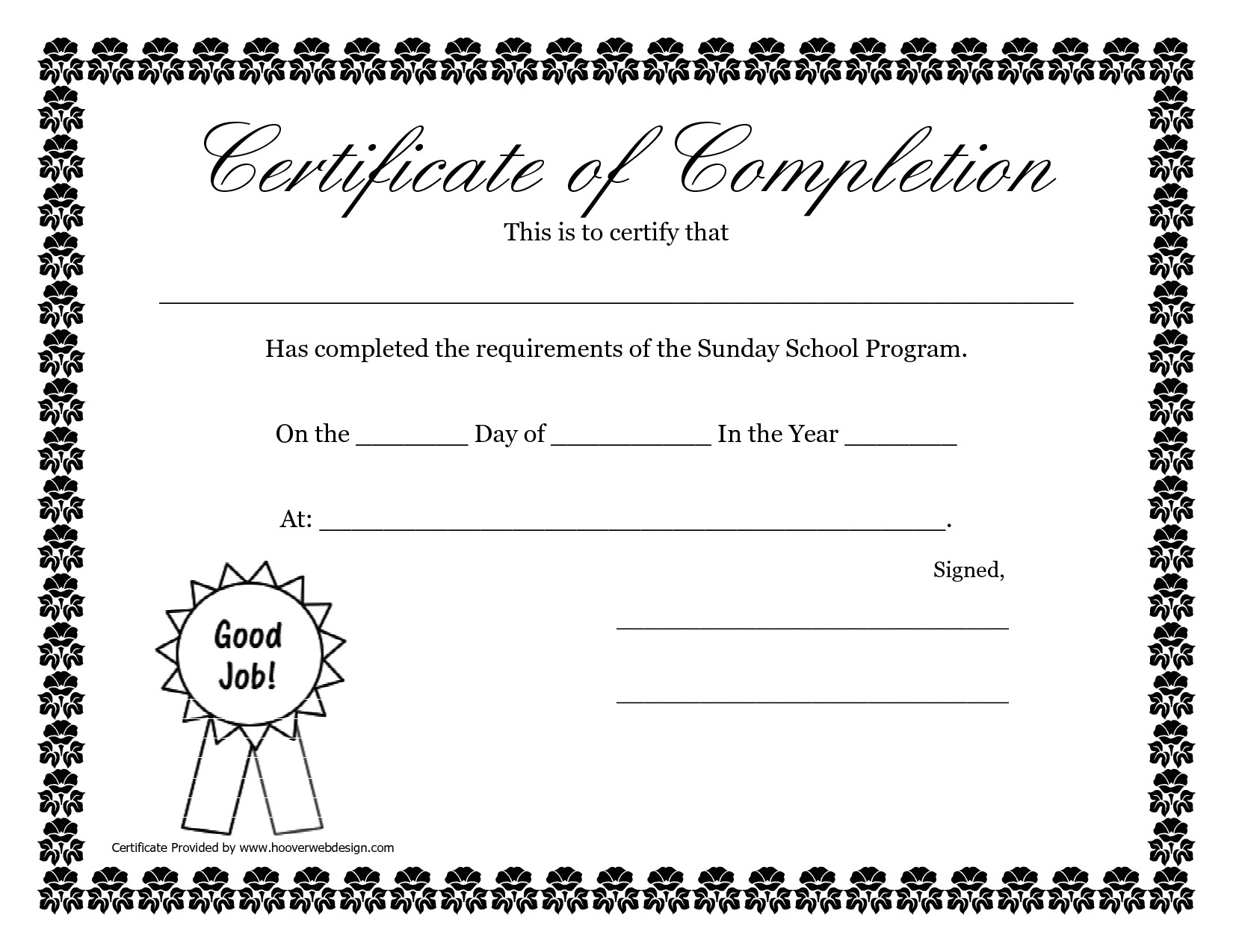 Bible Study Certificate Templates Sunday School Promotion Day Certificates Sunday School