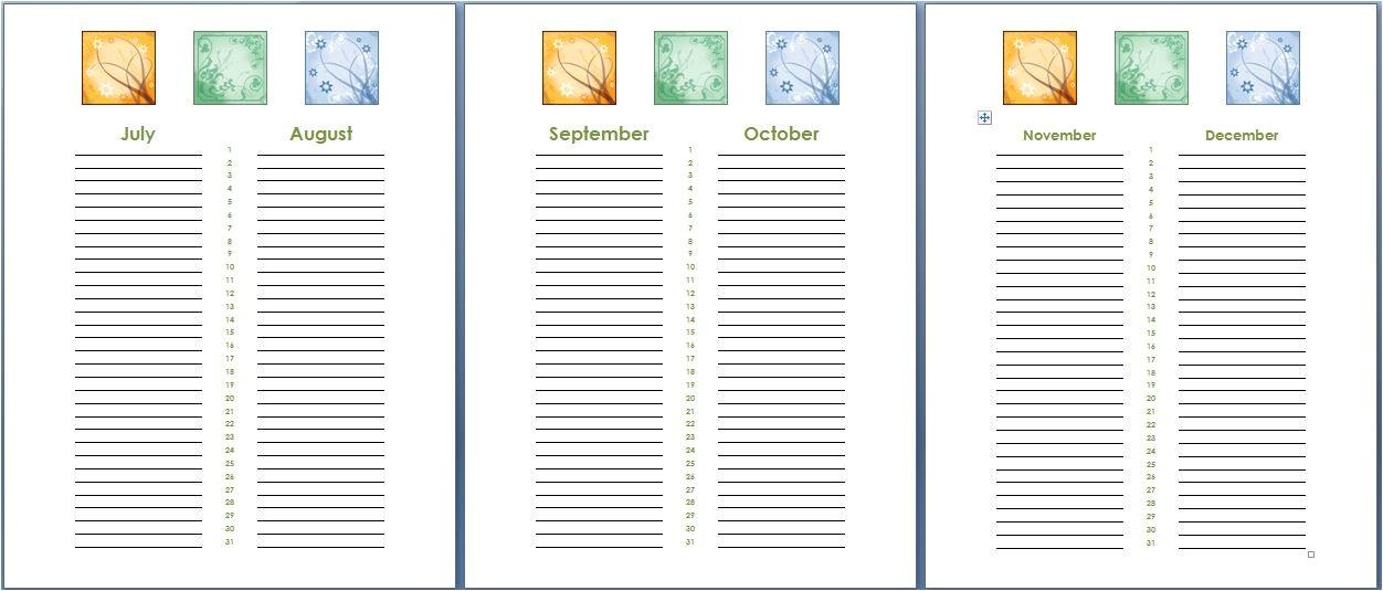 birthday and anniversary calendar template