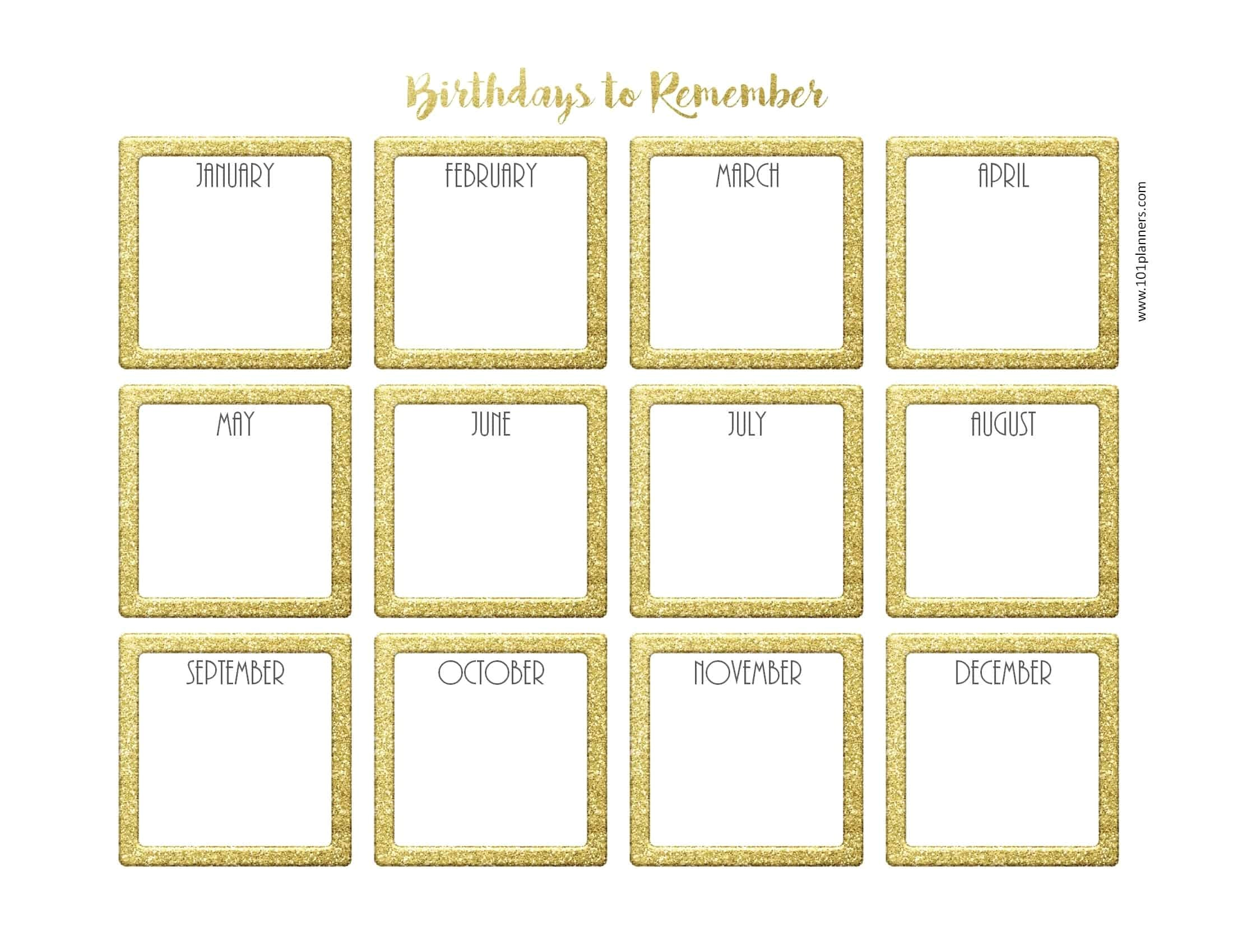 Birthday Calendars Templates Free Free Birthday Calendar Customize Online Print at Home