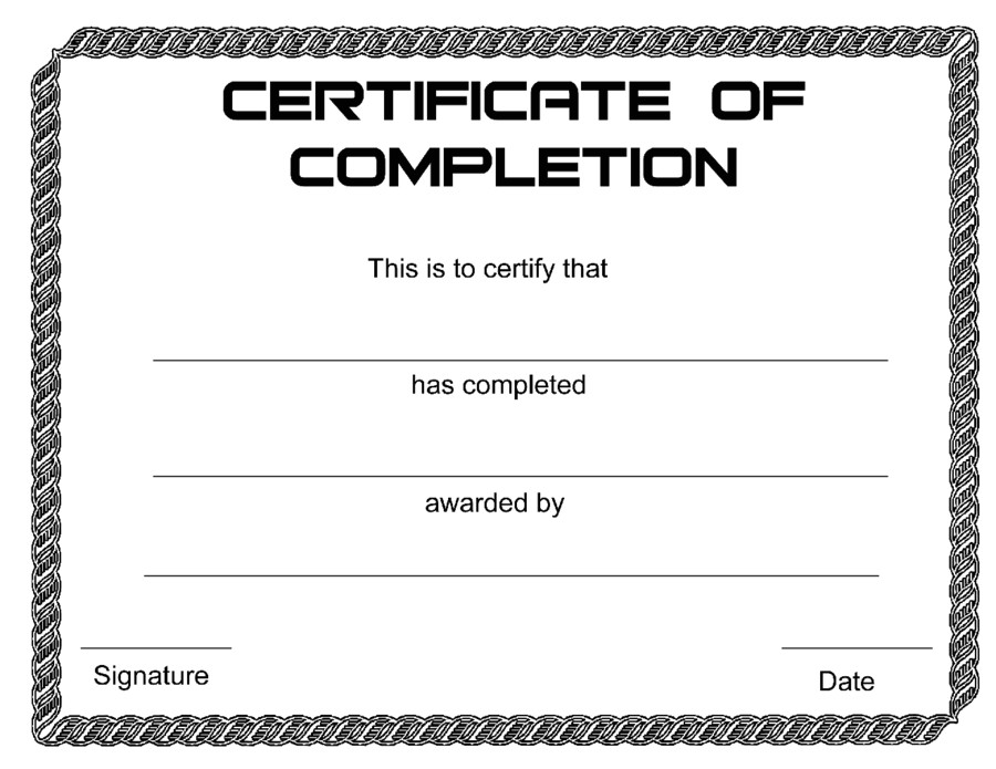 completion certificate template docs example pdf