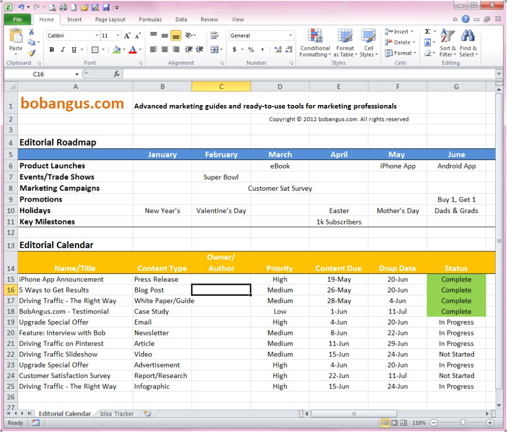 Blog Editorial Calendar Template Excel 15 tools to Manage Your Editorial Content Calendar
