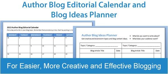 blog editorial calendar blog ideas planner free templates