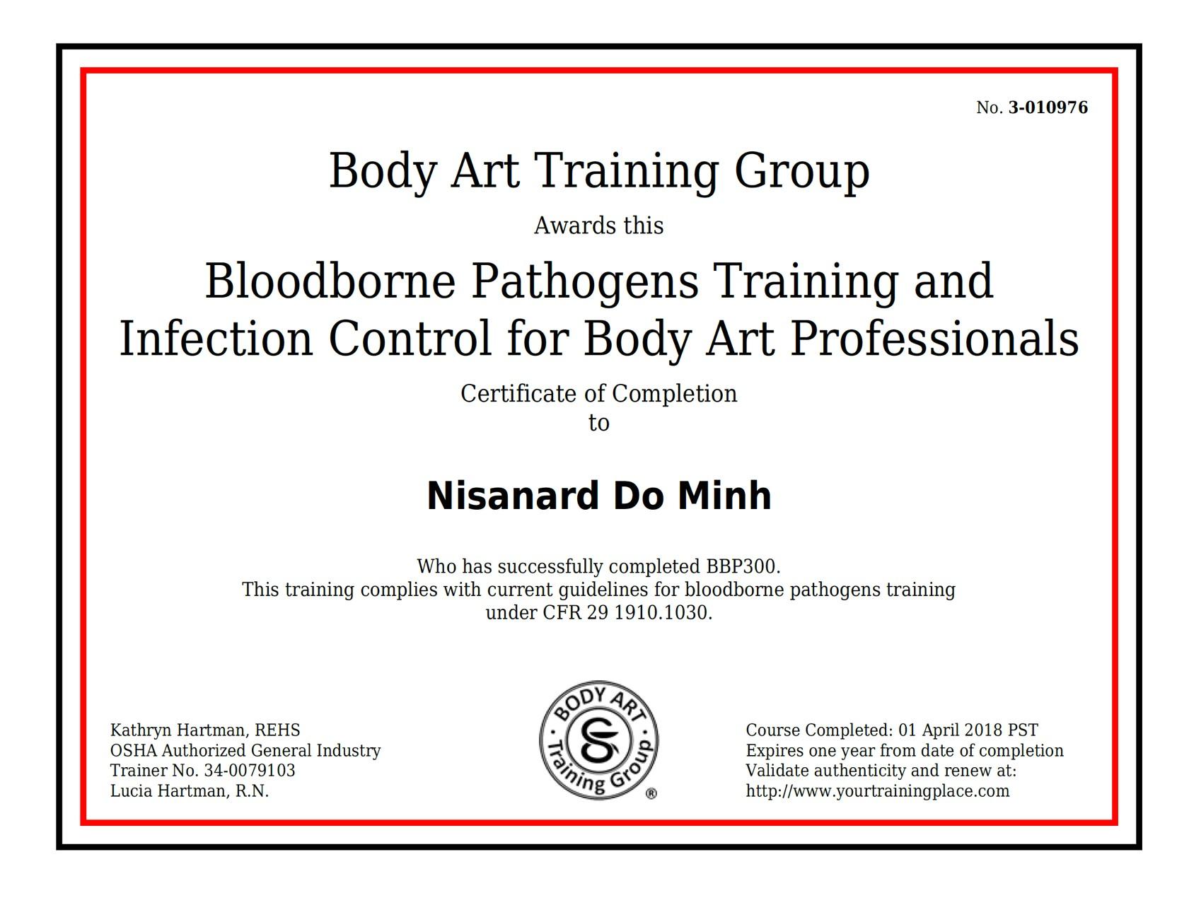 osha training certificate template