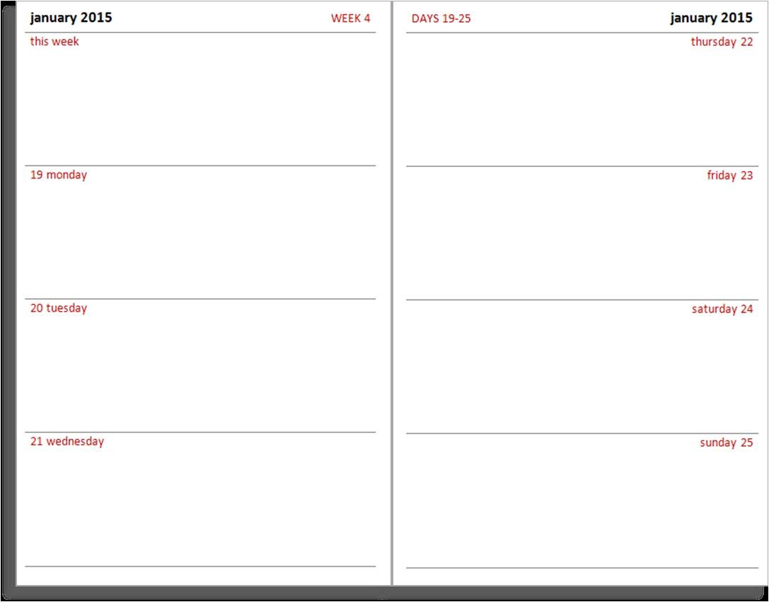 calendar 2015 printable booklet