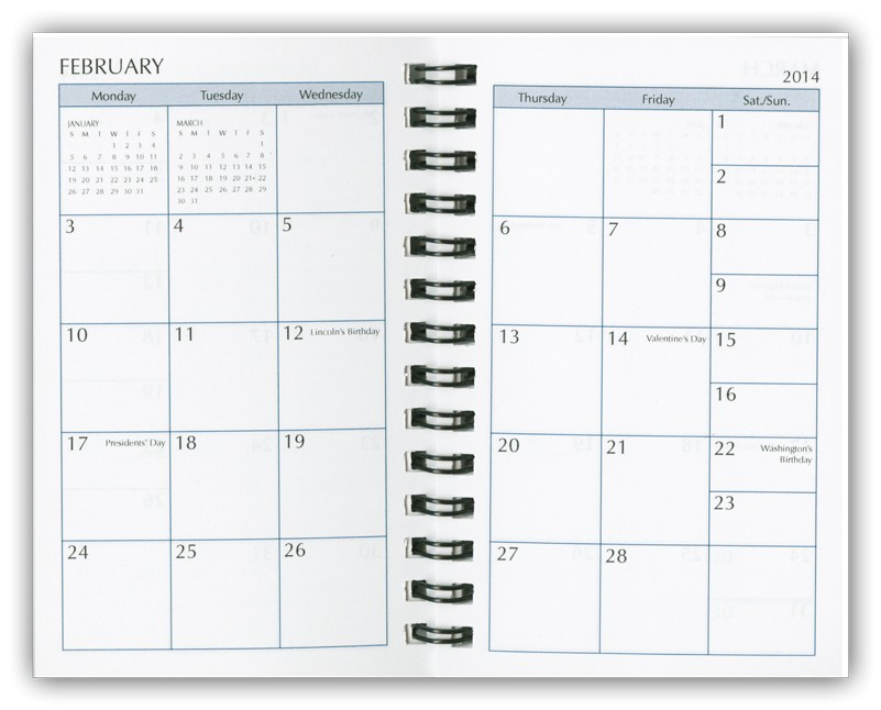 printable calendar booklet