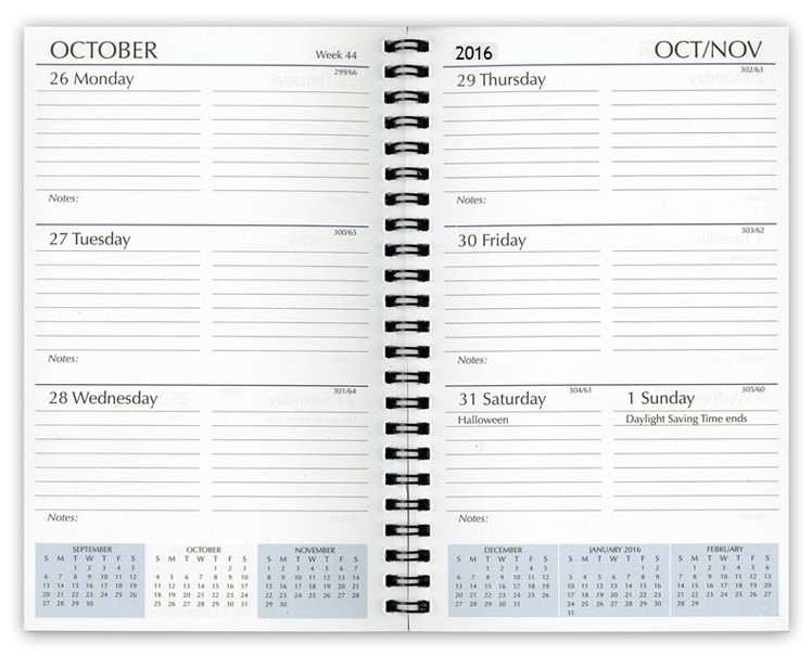 weekly calendar book 1862