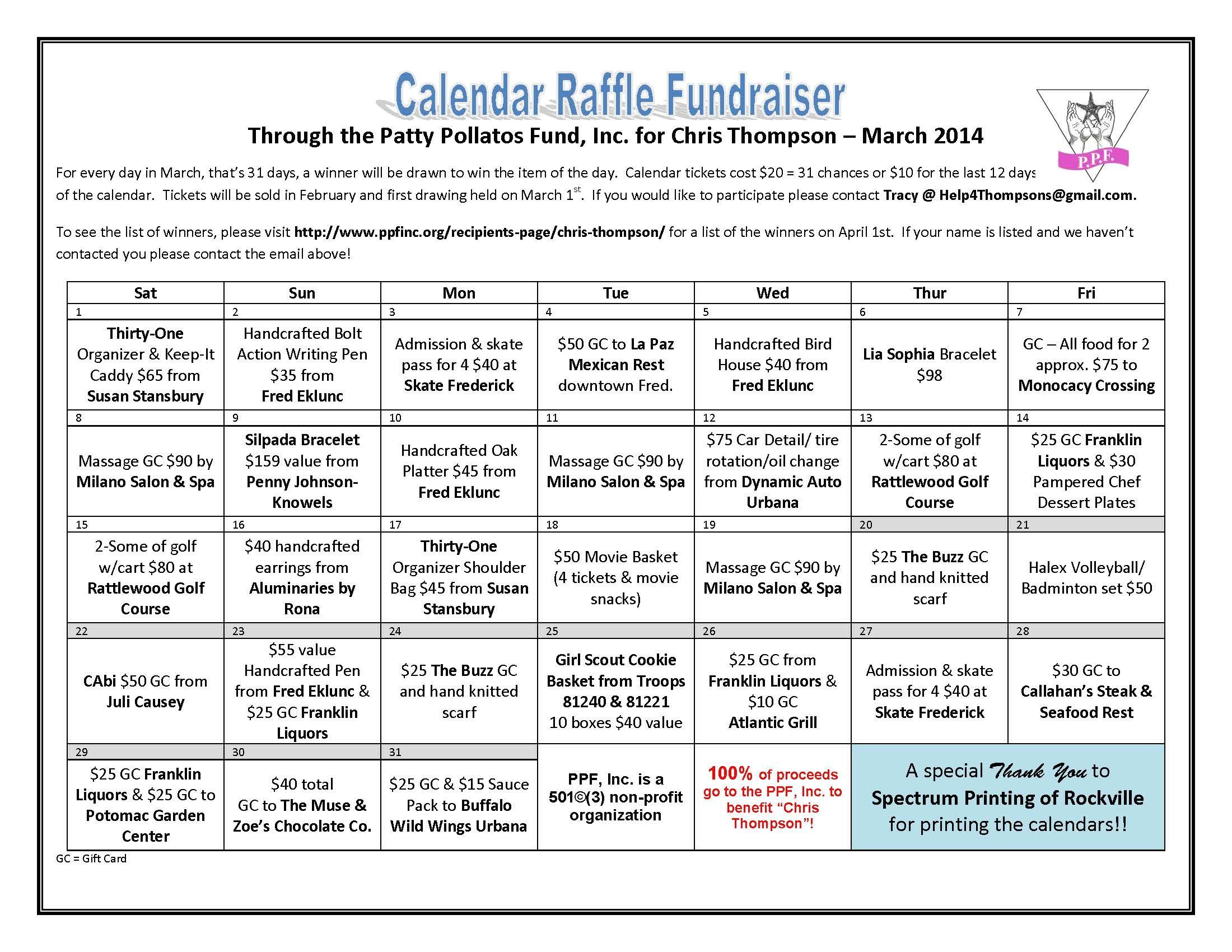 sample raffle tickets fundraiser