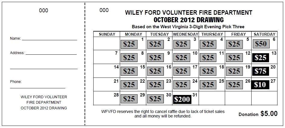Calendar Raffle Fundraiser Template theraffleticketstore Com Quot Jumbo Calendar Quot Raffle Ticket A